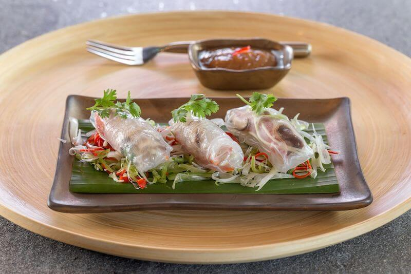Vegan inspiration: summer rolls from Keemala Resort