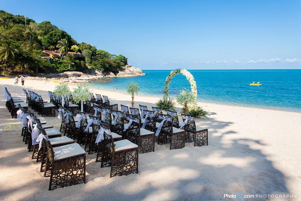 beach wedding thailand Tongsai Bay